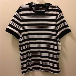 Micheal Kors Men's Striped Short Sleeve Tee